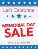 Memorial Day -Verkauf Lizenzfreie Stockfotos