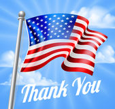 Memorial Day or Veterans Day Thank You American Flag Royalty Free Stock Images