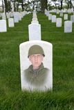 Memorial Day, War Veteran Cemetery, Army Solider Stock Photography