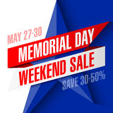 Memorial Day -Wochenenden-Verkaufsfahne Stockbilder