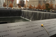 Memorial de 9-11-2001 Fotos de Stock Royalty Free