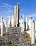 Memorial de aço da formação Fotografia de Stock