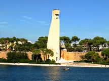 Memorial de Brindisi aos marinheiros italianos Fotografia de Stock