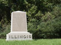 Memorial de guerra civil de Vicksburg da infantaria de Illinois 130th fotos de stock