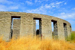 Memorial de guerra concreto de Maryhill Stonehenge Imagens de Stock