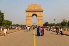 Memorial de guerra da porta da Índia em Deli Fotografia de Stock Royalty Free