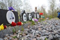 Memorial de guerra em alturas de Sinyavino Fotografia de Stock