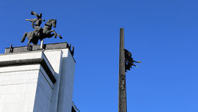 Memorial de guerra em Victory Park no monte de Poklonnaya, Moscou, Rússia Foto de Stock