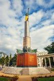 Memorial de guerra - monumento dos heróis do exército vermelho em Schwarzenbergplatz em Viena, Áustria Fotos de Stock Royalty Free