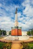 Memorial de guerra - monumento dos heróis do exército vermelho em Schwarzenbergplatz em Viena, Áustria Imagem de Stock Royalty Free