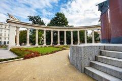 Memorial de guerra - monumento dos heróis do exército vermelho em Schwarzenbergplatz em Viena, Áustria Foto de Stock