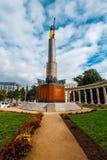 Memorial de guerra - monumento dos heróis do exército vermelho em Schwarzenbergplatz em Viena, Áustria Fotos de Stock