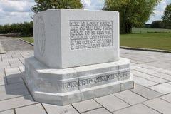 Memorial de guerra mundial do canadense primeiro no monte 62 pela madeira do santuário, perto de Ypres em Bélgica Imagens de Stock