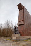 Memorial de guerra soviético no parque de Treptower. Berlim Imagens de Stock