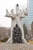 Memorial de Janusz Korczak em Varsóvia, Polônia Fotos de Stock