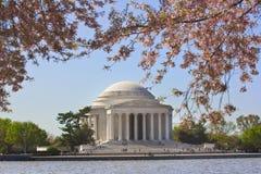 Memorial de Jefferson na C.C. de Washington Fotos de Stock Royalty Free