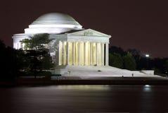Memorial de Jefferson na noite foto de stock