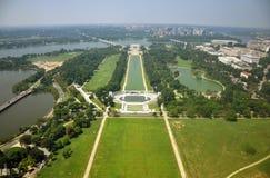 Memorial de Lincoln e memorial da guerra de mundo Foto de Stock Royalty Free