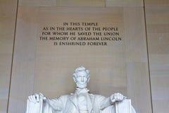 Memorial de Lincoln, Washington DC Foto de Stock