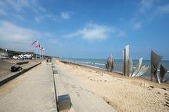 Memorial de Omaha Beach, França Imagens de Stock Royalty Free