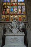 Memorial de Petri Josephi Triest na catedral de St Michael e de St Gudula Fotos de Stock