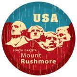 Memorial de Rushmore da montagem. ilustração royalty free
