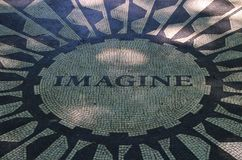 Memorial de Strawberry Fields, New York Fotos de Stock Royalty Free