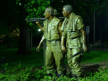 Memorial de Vietnam na noite Fotografia de Stock