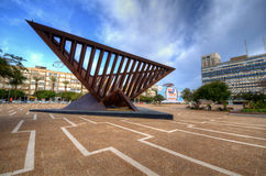 Memorial de Ytizak Rabin Imagens de Stock Royalty Free