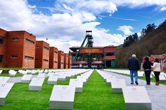 Memorial for the dead miners. Royalty Free Stock Images