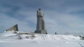 Memorial Defenders of the Soviet Arctic during the great Patriotic war stock footage
