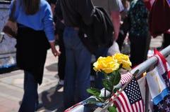 Memorial do bombardeio da maratona de Boston Imagens de Stock