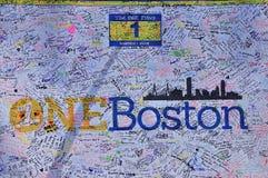 Memorial do bombardeio da maratona de Boston Foto de Stock Royalty Free