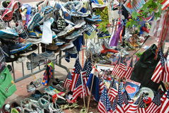 Memorial do bombardeio da maratona de Boston fotografia de stock royalty free