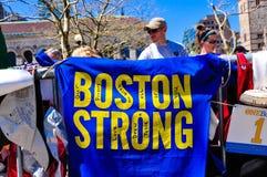 Memorial do bombardeio da maratona de Boston, EUA Fotos de Stock