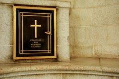 Memorial do cemitério Imagem de Stock