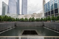 Memorial do ponto zero do World Trade Center Imagem de Stock