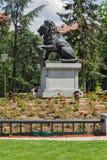Memorial do primeiro e sexto regimento de infantaria no parque na frente do palácio nacional da cultura dentro assim Foto de Stock