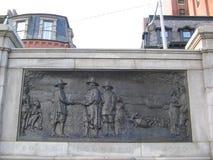 Memorial dos fundadores, terra comum de Boston, Boston, Massachusetts, EUA Imagem de Stock