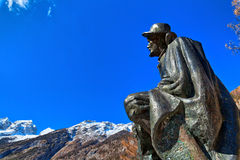 Memorial of Dr. Julius Kugy in Trenta in the Slovenian Triglav National Park, East Europe Royalty Free Stock Photo