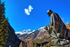 Memorial of Dr. Julius Kugy in Trenta in the Slovenian Triglav National Park, East Europe Royalty Free Stock Photography