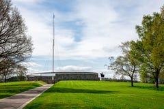 Memorial e estátua exteriores de Robert o Bruce na batalha de Bannockburn imagem de stock royalty free