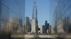 Memorial e Freedom Tower Imagem de Stock Royalty Free