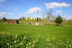 Memorial e jardins das forças armadas no arboreto memorável nacional, Alrewas Fotos de Stock