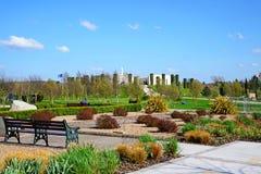 Memorial e jardins das forças armadas no arboreto memorável nacional, Alrewas Imagem de Stock