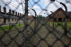 Memorial e museu do holocausto em AUSCHWITZ BIRKENAU fotografia de stock