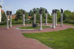 Memorial em Gyula fotografia de stock