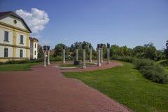 Memorial em Gyula imagem de stock royalty free