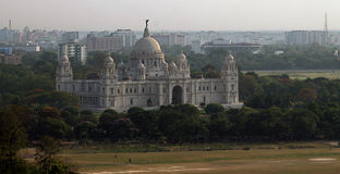 Memorial em Kolkata, India de Victoria Imagem de Stock Royalty Free