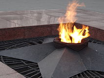Memorial eternal flame Stock Photo